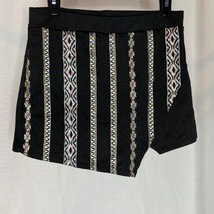 Skort with tribal design.
